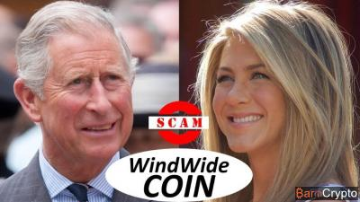 Jennifer Aniston et le prince Charles, ambassadeurs d'un SCAM crypto ?