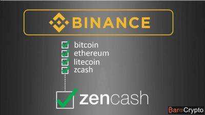 Officiel : Binance intègre ZenCash sur sa liste de cryptomonnaies