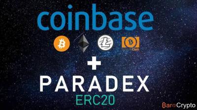 Coinbase : l'exchange rachète Paradex pour l'échange des tokens ERC20