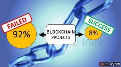 Projet blockchain : 8% encore actifs et 92% ont échoués selon la CAICT