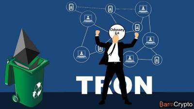 TRON lance enfin sa blockchain Odyssey 2.0, et quitte celle d'Ethereum
