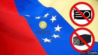 Mining : Le Venezuela interdit l'importation d'ASICs et GPUs de minage