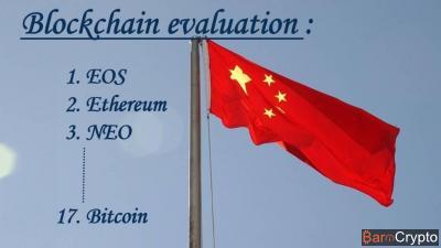Classement blockchain (CCID) : EOS 1er, Ethereum 2e … Bitcoin 17e