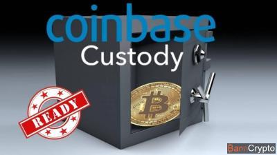 Coinbase Custody : les dépôts sont ouverts pour les institutionnels