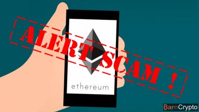 La chute ETH à $275 coïncide avec l'apparition d'un Scam App Ethereum