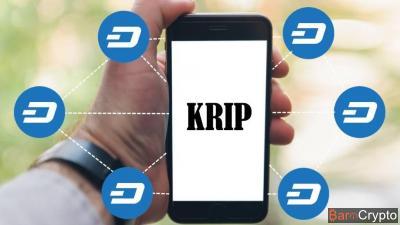 Cours DASH +20% : Explosion avec l'annonce du smartphone crypto KRIP