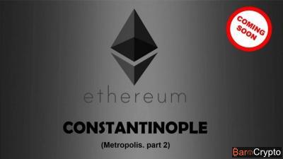 Cours ETH + 20% à un mois de la mise à niveau Constantinople
