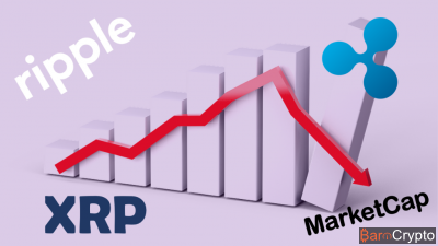 Le cours XRP de retour à la baisse, après un boom de 150% du marketcap