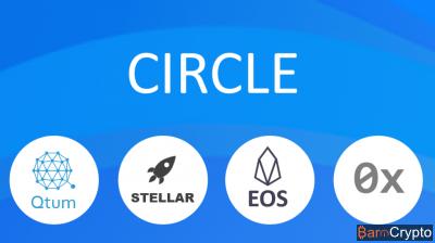 Cours EOS et Stellar constant malgré leur intégration chez Circle